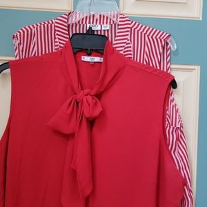 Duo red blouses